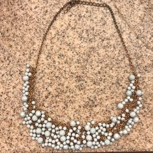 Jewelry - Gold & teal collar necklace